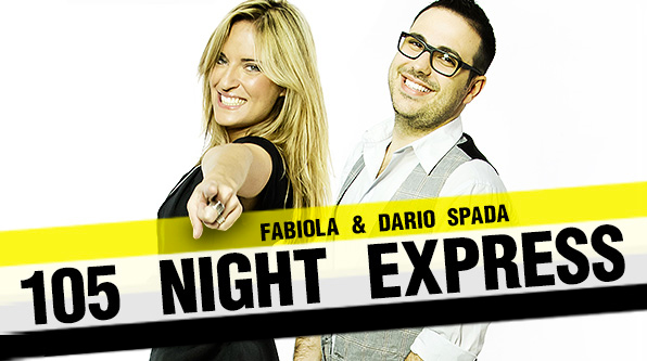 Dario Spada conduce 105 Night Express assieme a Fabiola Casà