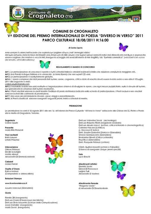 """Concorso """"diVerso in Verso 2011"""""""
