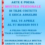 """Mostra artistica d'arte e poesia """"Sul filo dell'amicizia"""", 16 aprile 2011, Felina – Reggio Emilia"""