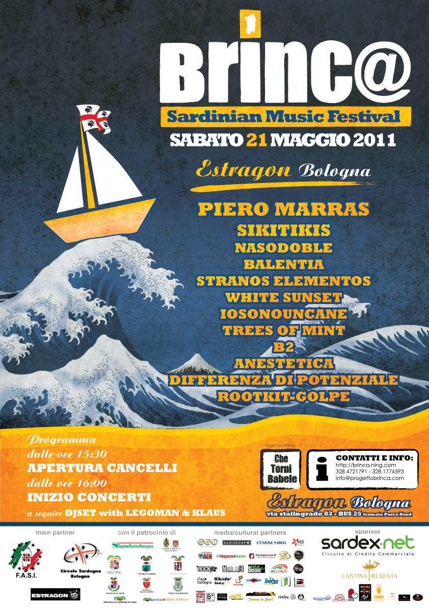 Brinc@ Sardinian Music Festival, sabato 21 maggio 2011 a Bologna