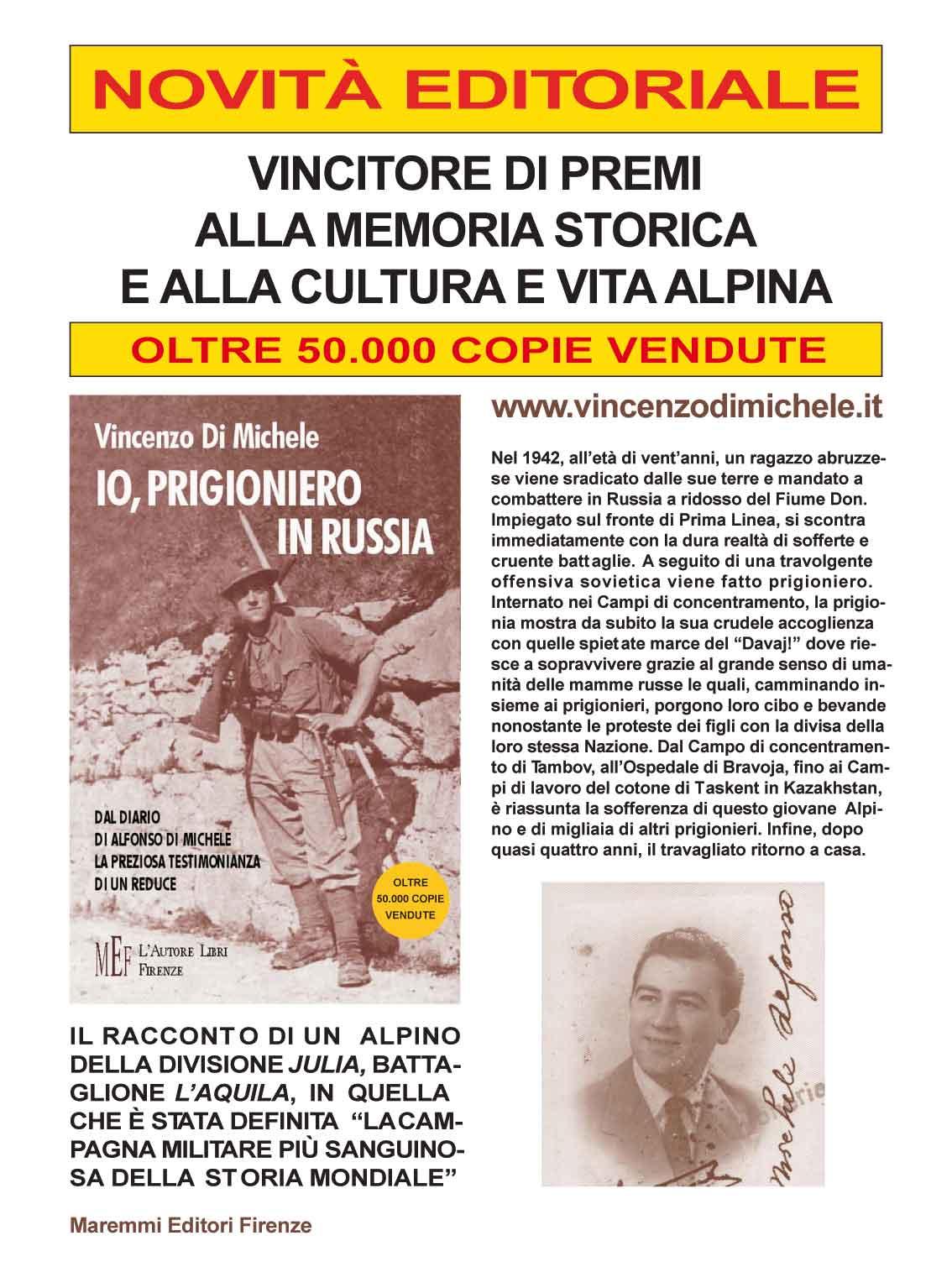 """""""Io, prigioniero in Russia"""" di Vincenzo Di Michele, La Stampa Edizioni"""