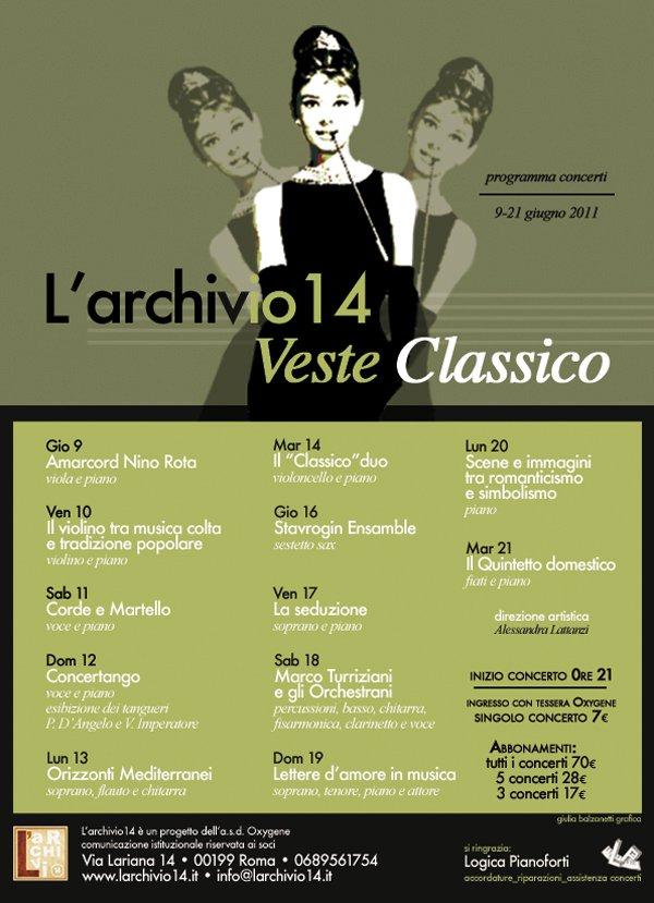 L'Archivio 14 veste di classico di Nadia Turriziani, Roma