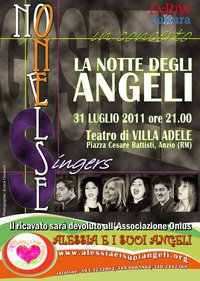 """""""La notte degli angeli"""", concerto ad Anzio il 31 Luglio, di Nadia Turriziani"""