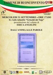 """Presentazione de  """"Dall'anima alle parole"""" di Erica Angelini, Rupe Mutevole Edizioni, 21 settembre 2011, Buonconvento (SI)"""