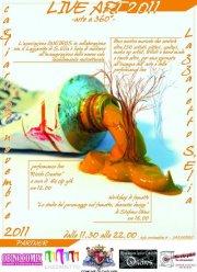 """Andrea Meloni espone al """"Live Art – Arte a 360°"""", 27 novembre 2011, Cagliari"""