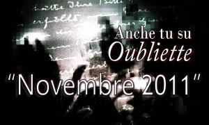 """Alessandro Bertolino vincitore della sezione A de """"Anche tu su Oubliette"""" – mese di novembre 2011"""