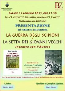 """Presentazione de """"La setta dei giovani vecchi"""" di Luca Rachetta, 14 gennaio 2012, Civitanova Marche"""
