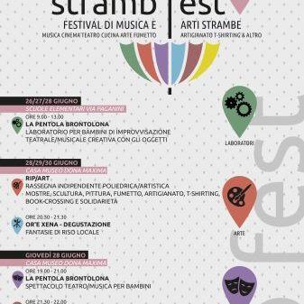 """""""Stramb Fest"""", festival di musica ed arti strambe, dal 26 al 30 giugno, San Gavino"""