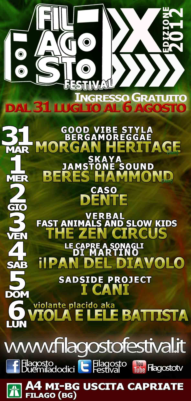 """IX edizione de """"Filagosto Festival"""", dal 31 luglio al 6 agosto, Filago (BG)"""