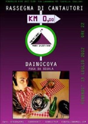 """Dainocova ed il nuovo set semiacustico per """"Fuga da scuola"""", 13 luglio 2012, Cagliari"""
