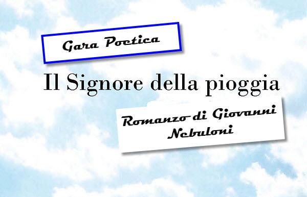"""Gara Poetica gratuita """"Il Signore della Pioggia"""""""