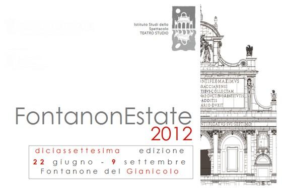 """XVII edizione de """"FontanonEstate"""", dal 22 giugno al 9 settembre 2012, Roma"""