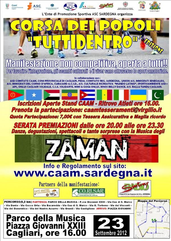 """I edizione della Corsa dei Popoli """"Tutti dentro"""", domenica 23 settembre 2012, Cagliari"""