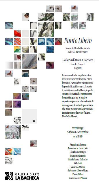"""II° edizione de """"Punto Libero"""" – collettiva di arte contemporanea, dal 15 al 29 settembre 2012, Cagliari"""