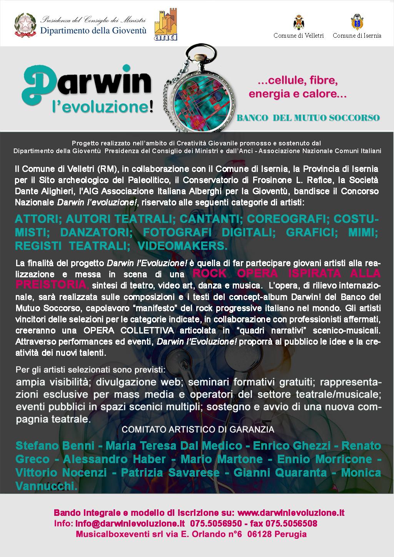 """Concorso Nazionale """"Darwin l'evoluzione"""" – bando completo"""