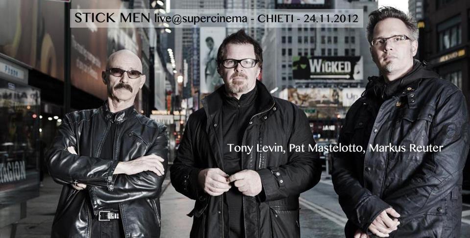 Stick Men in concerto live al Teatro Auditorium di Chieti, 24 novembre 2012
