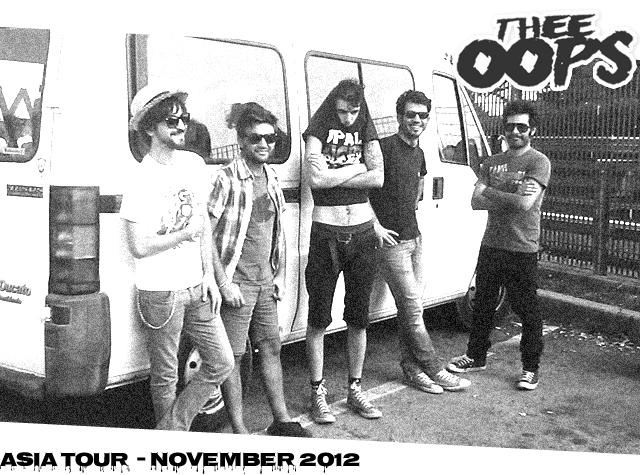 Tour in Asia per la band sarda Thee Oops dal 3 al 25 novembre 2012, eccovi le date