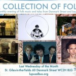"""A Collection of Folk"": live acoustic music in St Giles-in-the-fields, August 31st 2016, London"