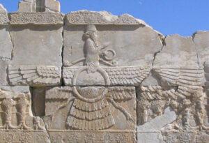 Ahura Mazda, il dio venerato dai Persiani, dal palazzo reale di Persepoli