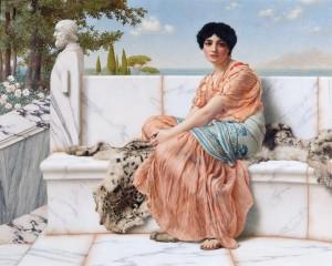 Al tempo di Saffo - John William Godward - Olio su tela - 1904
