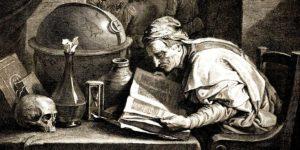 Alchimista nel suo Laboratorio