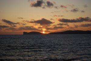 Alghero - mare al tramonto