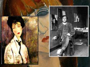 Amedeo Modigliani nel suo studio - Madame Kisling 1917 - Donna con cravatta nera 1917