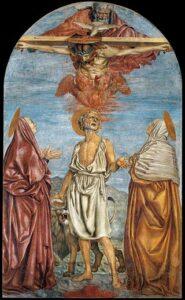 Apparizione della Trinità, Santissima Annunziata, Firenze - Painting by Andrea del Castagno