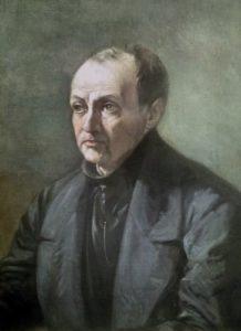 Auguste Comte - dipinto di Louis Jules Etex