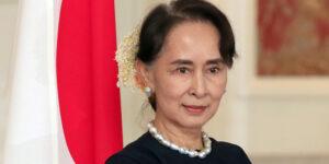 Aung San Suu Kyi - Photo by Franck Robichon - Tokyo, 2018