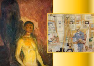 Autoritratto all'Inferno - Edvard Munch, The Skeleton Painter - James Ensor