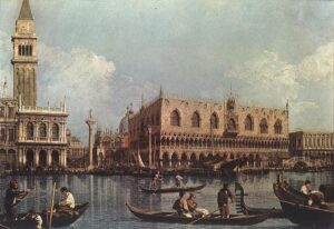 Bacino di San Marco - Painting by Canaletto 1730 e 1735