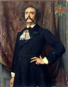 Barbey d'Aurevilly - Portrait by Émile Lévy - 1882