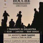 """Paolo Carrus New Esemble: l'ultimo tramonto del progetto """"Tramonti di Musica"""", 24 agosto, Bari Sardo"""