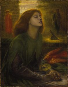 Beata Beatrix - Painting by Dante Gabriel Rossetti - 1864-1870