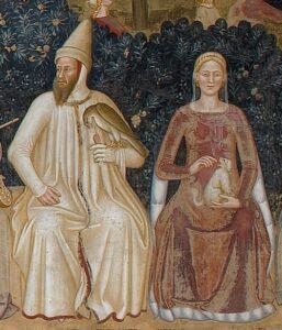 Bernabò Visconti e Beatrice, genitori di Agnese