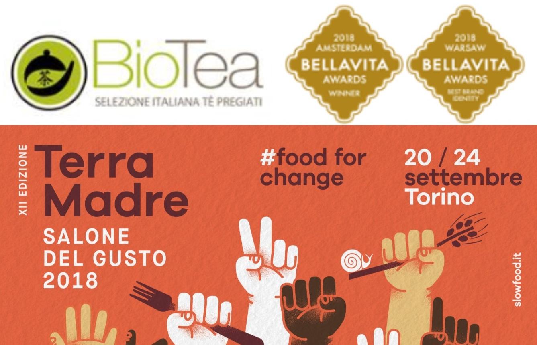 BioTea alla XII edizione di Terra Madre Salone del Gusto dal 20 al 24 settembre 2018, Torino
