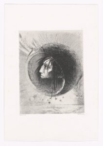 Blossoming (Éclosion) from In the Dream (Dans le rêve) - Painting by Odilon Redon - Photo by MoMa