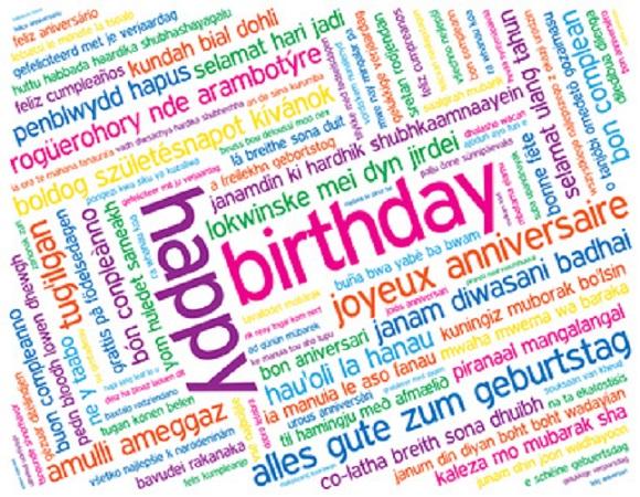 Molto Augurare Buon Compleanno in tutte le lingue del mondo | OUBLIETTE  QL39