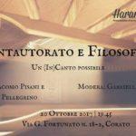 Cantautorato e Filosofia – Un (In)Canto possibile: un viaggio tra Guccini e Il Teatro degli Orrori, 20 ottobre, Corato