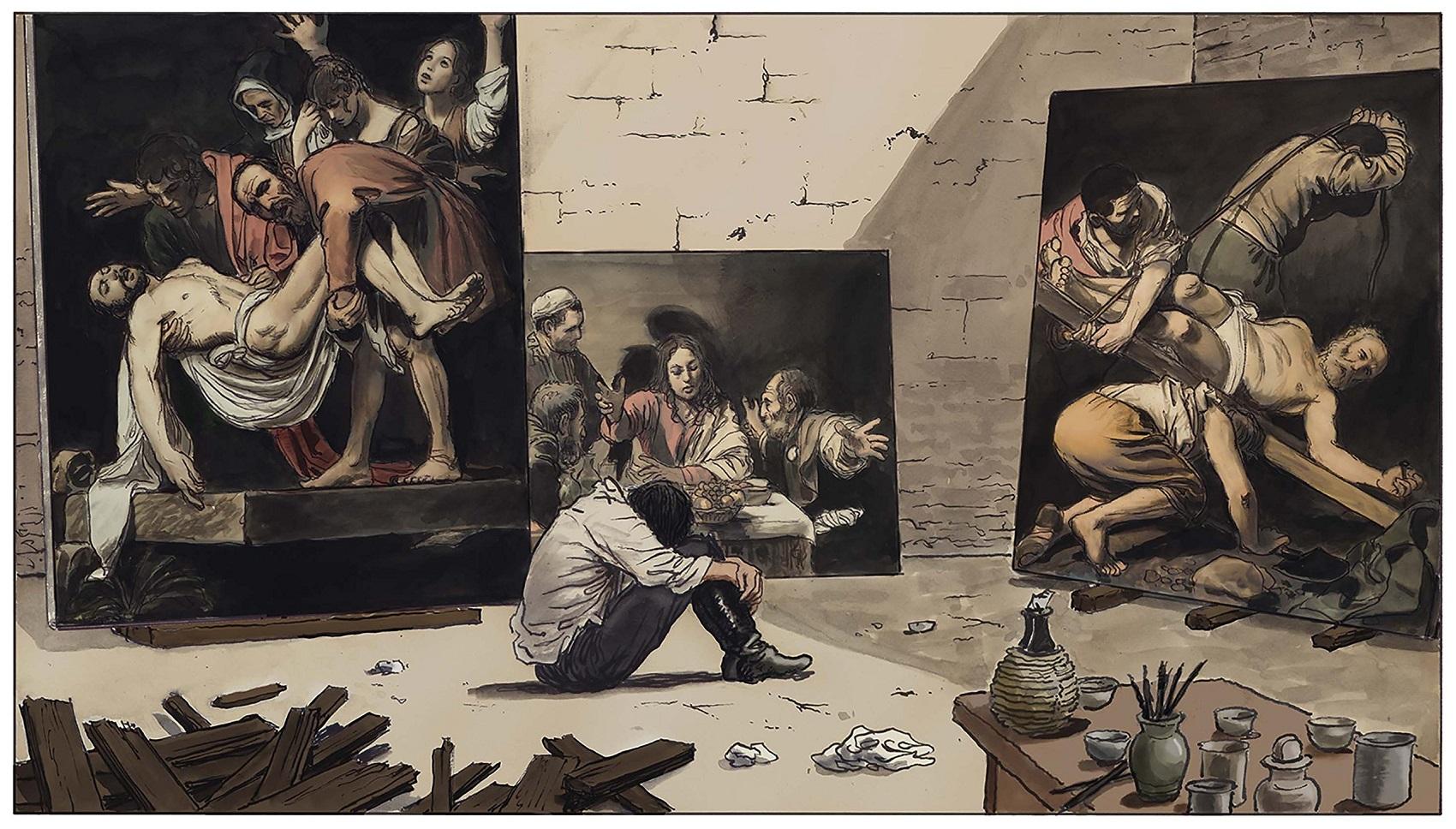 """""""Caravaggio – La Tavolozza e la Spada"""" di Milo Manara: una graphic novel in omaggio a Michelangelo Merisi"""