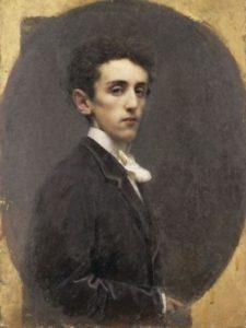 Carlo Dossi a 18 anni - Dipinto di Tranquillo Cremona - 1867