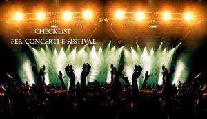 Checklist concerti e festival