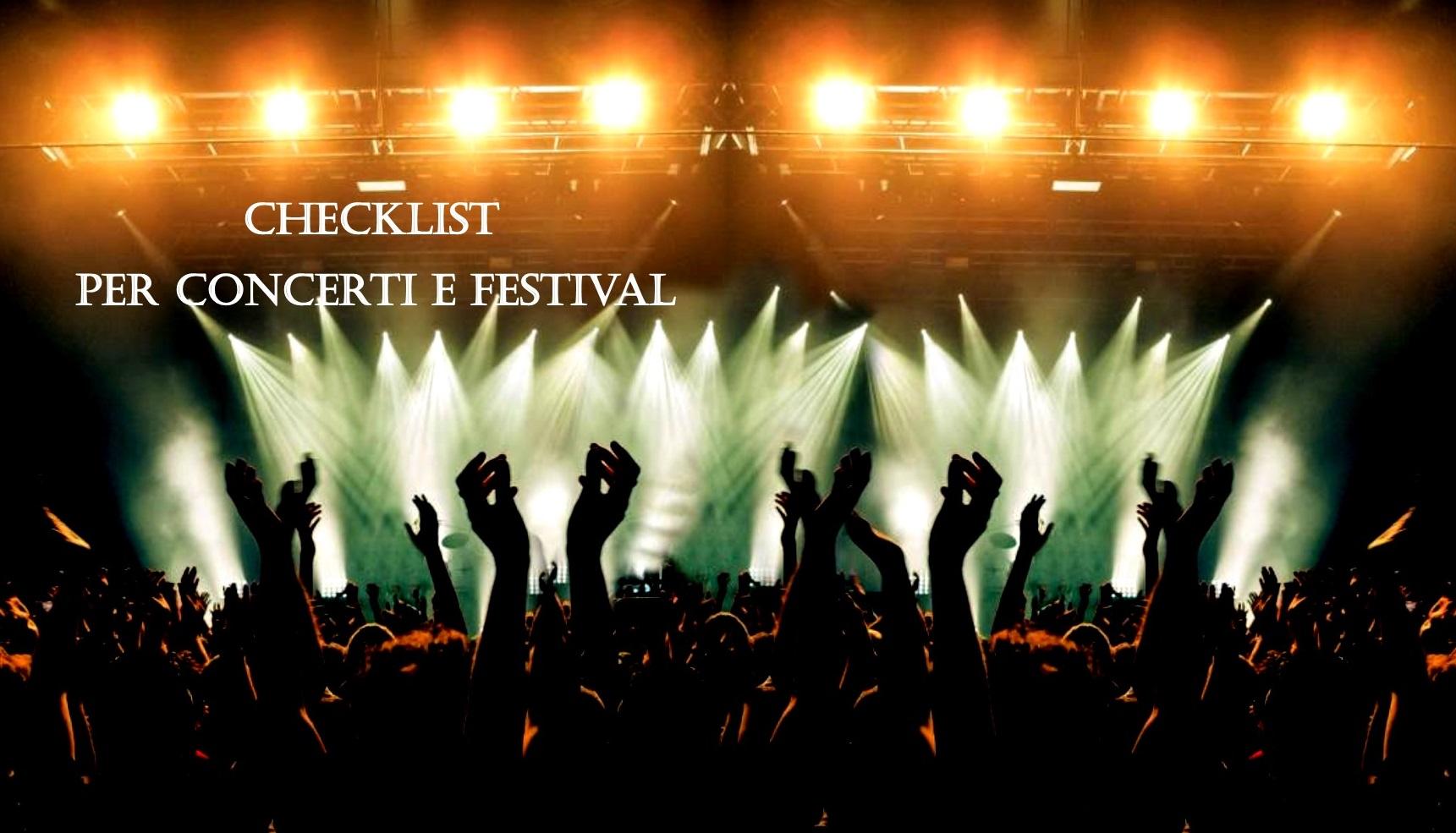 Checklist per concerti e festival e tour annullati: che cosa fare e che cosa portare