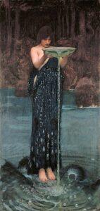 Circe invidiosa - Painting by John William Waterhouse