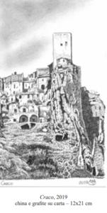 Craco - Illustrazione del Maestro Gianni Calamassi