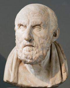 Crisippo di Soli - copia romana di busto ellenistico