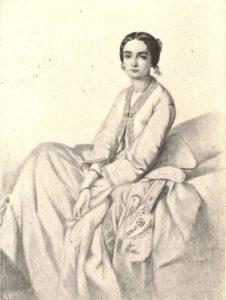 Cristina Trivulzio di Belgiojoso - ritratto di Vincent Vidal, 1836