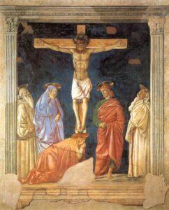 Crocifissione di Santa Maria Nuova, Ospedale di Santa Maria Nuova, Firenze - Painting by Andrea del Castagno