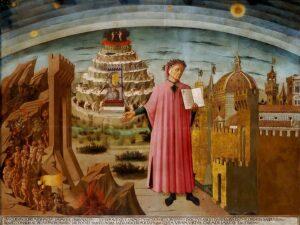 Dante ed i tre regni - Painting by Domenico di Michelino, 1465